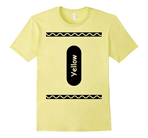 Mens Yellow Crayon Halloween 2017 Costume for Groups and Couples Large Lemon