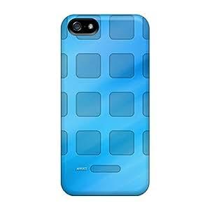 USMONON Phone cases New Design Shatterproof Case For Iphone Iphone 5 5s (grid Wallpaper)