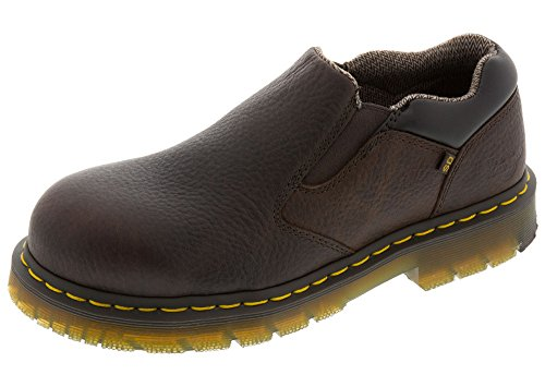 Dr Martens Slip On (Dr. Martens Mens Dunston SD St Slip On Shoe, Size: 10 D(M) US/9 F(M) UK, Color Bark Industrial Bear)