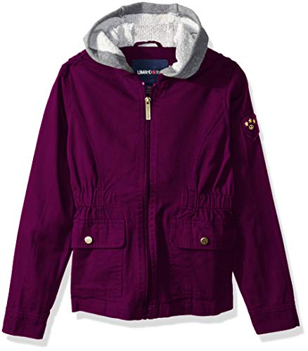 Limited Too Girls' Little Cotton Anorak Jacket with Fleece Sleeves, Magenta 4