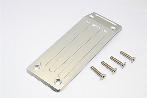 Traxxas X-Maxx 4X4 Upgrade Parts Aluminum Rear Skid Plate - 1Pc Set Silver