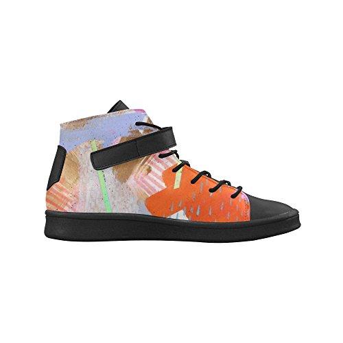 Artsadd Oranje Mod Ronde Neus Damesschoenen Boost Sneaker