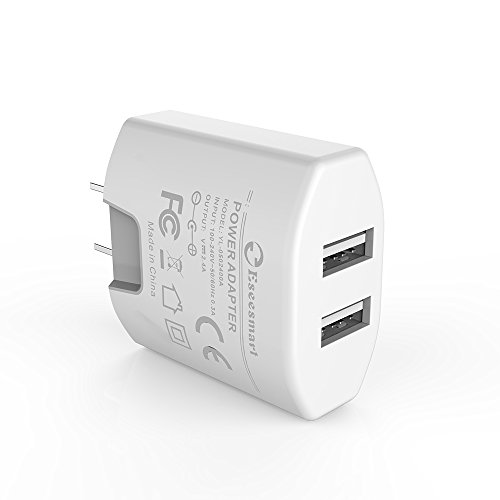 USB Wall Charger, 2.1A Dual Port USB Wall Charger Universal Power Adapter Compatible with Samsung Galaxy, LG, HTC,...