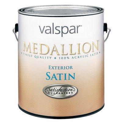 (1 Quart Satin White Medallion Exterior Latex House Paint)