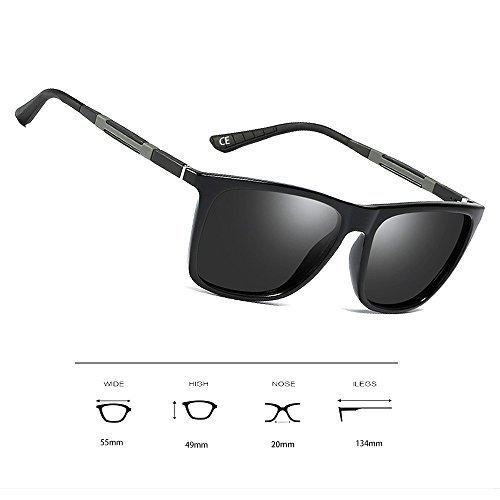 Black Protección Gray Polarizado MG Lens Vintage WS046 Hombre BVAGSS Gafas metal Marco Sol Modelo AL Classic Frame Gafas De de UV400 nAxzTHq