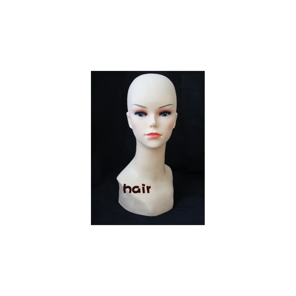 New Beautiful Female Mannequin Head for Fashion Wig/hat/jewelry Display Natural Color 40cm