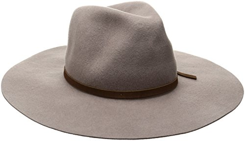 Goorin Bros. Women's Ms. Danke Wool Felt Wide Brim Fedora Hat, Taupe, Large
