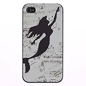 JJE The Little Mermaid Shadow Pattern PC Hard Case with Black Frame for iPhone 4/4S