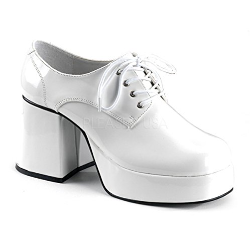 Funtasma by Pleaser Men's Jazz-02 Platform Oxford,White Patent,M (US Men's 10-11 M) -