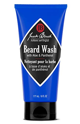 Jack Black – Beard Wash, 6 fl oz – PureScience Formula, Aloe & Panthenol, Multifunctional Beard Treatment, Softens Facial Hair, Removes Oil and Dirt, Conditions Facial Hair and Skin