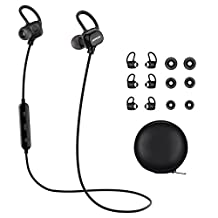Wireless Bluetooth Headphones, Mpow Enchanter Wireless Bluetooth 4.1 Sports Headphones Earbuds Earphones Headset for iPhone 7 Plus 6 6s SE and Other Smart Phones (3 Pairs Earbuds and Bag included)