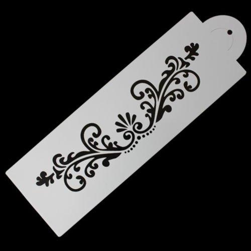 Lace Flower Border Edge Cake Stencil Decor Sugarcraft Fondant Baking Tool Pop PT LeLeShop TM