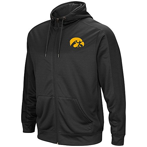 Mens NCAA Iowa Hawkeyes Full-zip Hoodie (Charcoal) - M