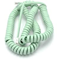Telephone Cord Handset Curly - Phone Color Earth Day Green 15ft - Works on virtually all Trimline Phones and Princess Telephones - Landline Telephone Accessory iSoHo Phones