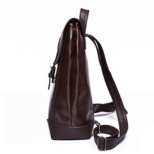 Bag Backpack Shoulders Brown Business Men's Laidaye Travel RUwqATEtnA