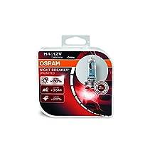 OSRAM NIGHT BREAKER LASER +130% H4 Halogen, Headlight Lamp, 64193NBL-HCB, 12V, Duo Box, Pack of 2