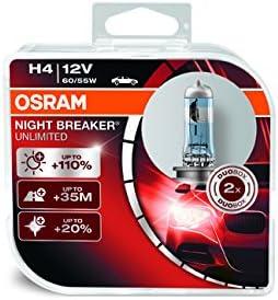 OSRAM 64193NBU-HCB Night Breaker Unlimited H4 Duo Box