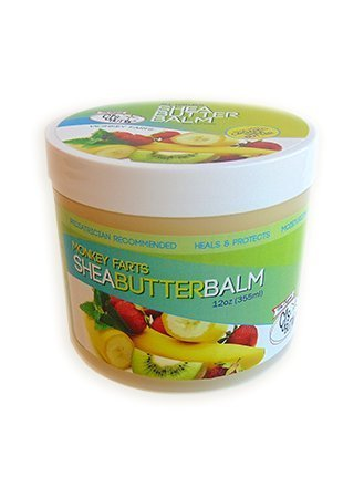 The Original CJ's BUTTer® All Natural Shea Butter Balm - Monkey Farts, 12 oz. Tub
