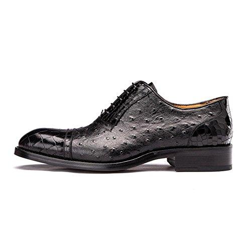 Hombres Inteligente Cuero Oxford Zapatos Cocodrilo Patrón Formal Boda Negocio Encajes Casual para Hombres Negro marrón tamaño 38-44 black