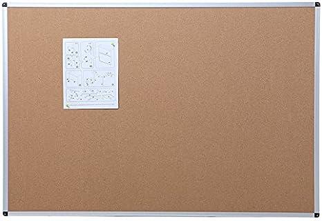 Basics Aluminum Frame Cork Notice Board 90cm x 60cm