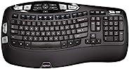 Logitech K350 Wireless Wave Ergonomic Keyboard with Unifying Wireless Technology - Black