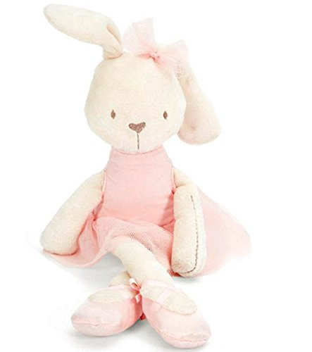 Cute Stuffed Plush Rabbit Toy For Baby Girls Kids Soft Kawaii Toy Children Big Bedding Pillow Baby Girls Bow Dress Pets Toys (Jem And The Holograms Halloween Costume)