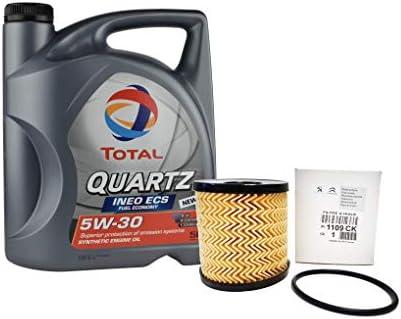 DUO Aceite Total Quartz Ineo ECS 5W-30 + filtro de aceite Original ...