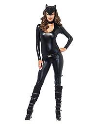 Sexy Feline Femme Fatale Cat Catsuit Women's Costume