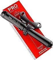 PRO BIKE TOOL Mini Bike Pump Premium Edition - Fits Presta and Schrader valves - High Pressure PSI - Bicycle T