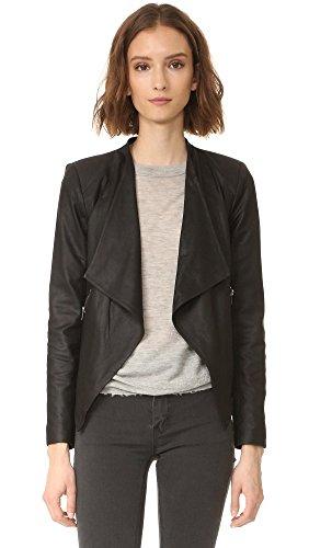 BB Dakota Women's Siena Soft Leather Jacket, Black, Large (Bb Dakota Leather Jacket)