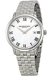 Raymond Weil White Dial Stainless Steel Quartz Men's Watch 5488-ST-00300