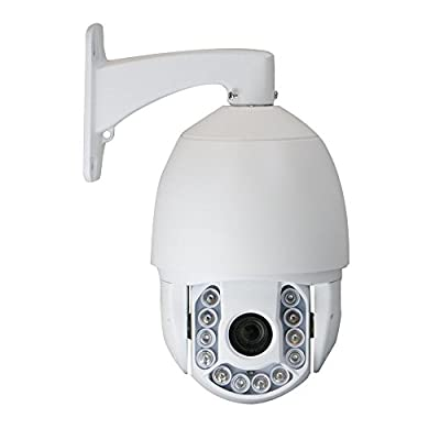 GW Security 4MP HD 1520P Onvif Outdoor Indoor Pan Tilt Zoom IP PTZ Camera 20X Optical Zoom Up to 500FT IR Night Vision from GW Security