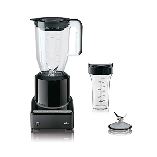 Cheap Braun PureMix Black 1.75 Quart Countertop Blender with Smoothie2Go Blending Cup