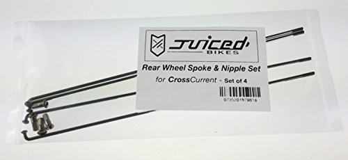 Juiced Bikes Rear Wheel Spoke & Nipple Set for CrossCurrent Set of 4