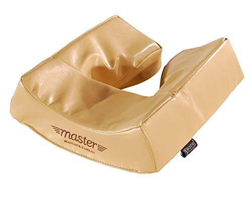 Master Massage Patented Memory Foam Ergonomic Dream Face Cushion Pillow Headrest, Cream