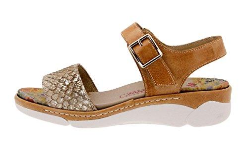 Plantilla cómodo Sandalia Extraíble ancho Calzado piel de mujer Cuero 1501 Piesanto confort zYHq06wf