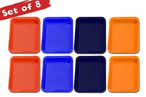 Art Tray (Set of 8 Arts and Crafts Tray - Classroom organization- Daycare supplies- Montessori - Lego Sorter - Craft Organizer for activities - Kinetic Sands, Blocks, Puzzles,Beading, Sensory Play)