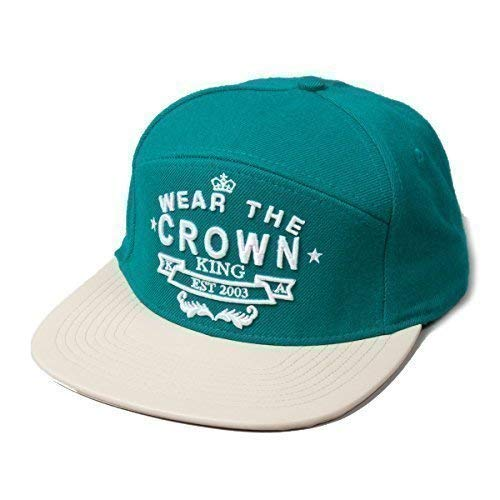 62dd69dd35d King Wear The Crown Supreme Turquoise Wool Flat Peak Snapback Hat Cap   Amazon.co.uk  Clothing
