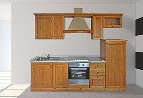 Arredamenti Rustici Cucina rustica in legno massello L255 ...