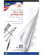 Helix Vellum Pad, 11 x 17 Inch, 50 Sheets, White (37106)