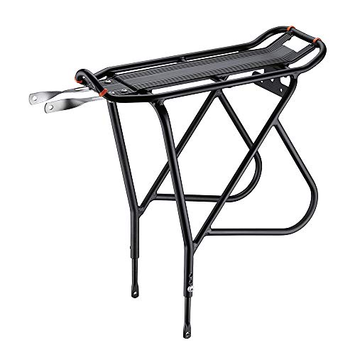 Ibera Bike Rack - Bicycle Touring Carrier with Fender Board, Frame-Mounted for Heavier Top & Side Loads, Height Adjustable for 26