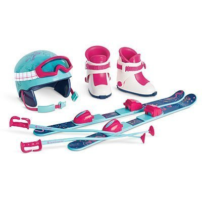 American Girl - Skis and Helmet Set for Dolls - MY AG 2014 (Fun Skis Girl)
