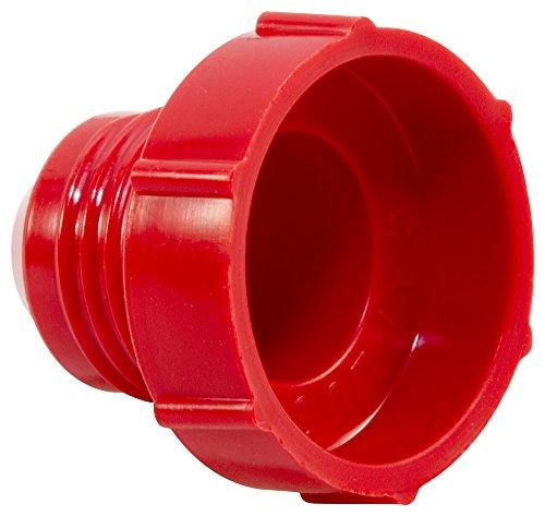 (Caplugs Plastic Threaded Plug for Flared JIC Fittings. PD-50, PE-HD, to Plug Thread Size 1/2-20