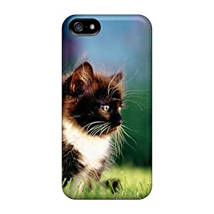 Premium MBM2602FTZT Case With Scratch-resistant/ Watchfull Kitten Case Cover For Iphone 5/5s