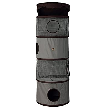 Image of One for Pets 4-Storey All in One Portable Cat Activity Tower Pet Supplies