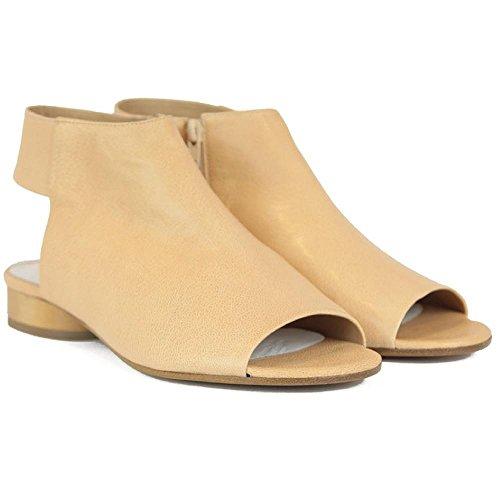 Maison Margiela Women's Apricot Leather Slingbacks Shoes - Size: 11 - Boutique Margiela
