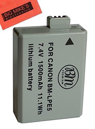 BM-Premium-LP-E5-Battery-for-Canon-EOS-Rebel-XS-Rebel-T1i-Rebel-XSi-1000D-500D-450D-Kiss-X3-Kiss-X2-Kiss-F-Digital-SLR-Camera