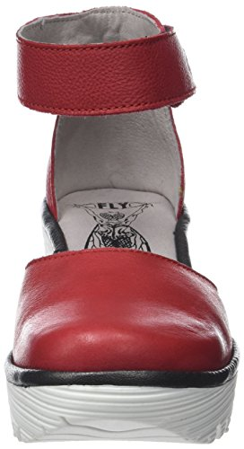 FLY London Womens Yand709fly Platform Sandal Red/Off White Burrito JIGxf