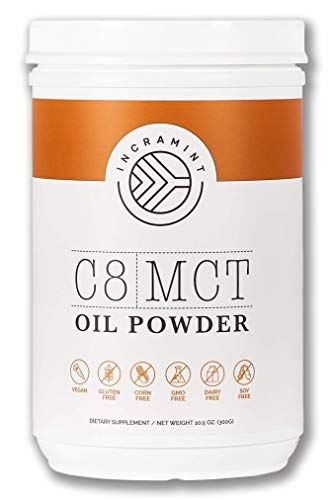Incramint C8 MCT Oil Powder, Ketogenic Diet Supplement, 10.5 oz. :: Low Carb Aid for Ketosis, Appetite Suppression & Energy Production :: Vegan, Gluten & GMO Free, Sustainably Sourced, Made in USA