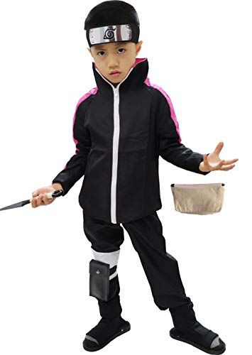 OURCOSPLAY US Size Anime Uzumaki Boruto Halloween Cosplay Costume 5Pcs (Men US -